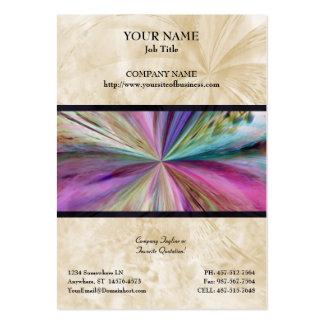 Cinta abstracta colorida del collage plantilla de tarjeta de visita