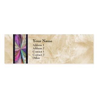 Cinta abstracta colorida del collage plantilla de tarjeta de negocio