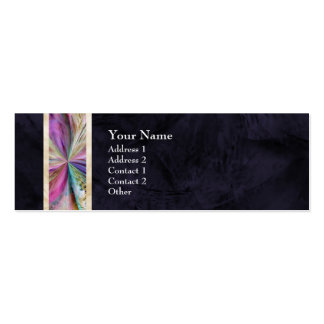 Cinta abstracta colorida del collage tarjeta personal