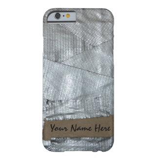 Cinta aislante y etiqueta rasgada de la cartulina funda de iPhone 6 barely there