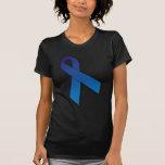 Cinta azul de la conciencia y de la conmemoración camisetas