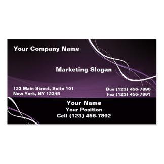 Cinta blanca púrpura tarjeta de negocio