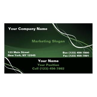Cinta blanca verde plantillas de tarjetas personales
