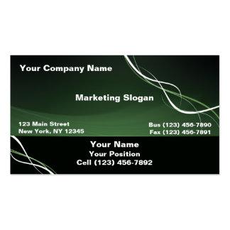 Cinta blanca verde tarjeta de negocio