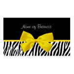 Cinta blanco y negro de moda del amarillo del esta tarjeta personal