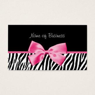 Cinta blanco y negro de moda del rosa del tarjeta de negocios