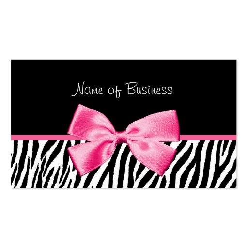 Cinta blanco y negro de moda del rosa del tarjetas de visita