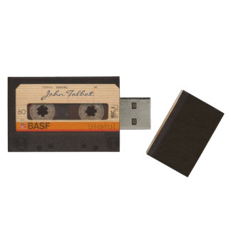 Cinta de audio formada retra USB del vintage 80s Memoria USB De Madera