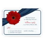 Cinta de azules marinos roja de la margarita de comunicados personalizados