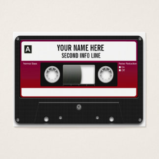Cinta de casete de DJ Mixtape Tarjeta De Negocios