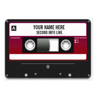 Cinta de casete de DJ Mixtape Tarjetas De Visita Grandes