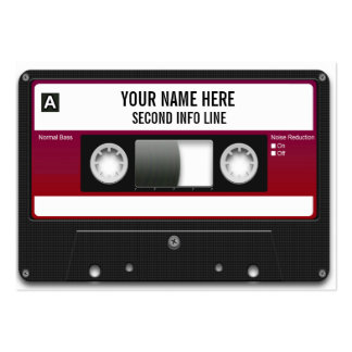Cinta de casete de DJ Mixtape Plantilla De Tarjeta Personal