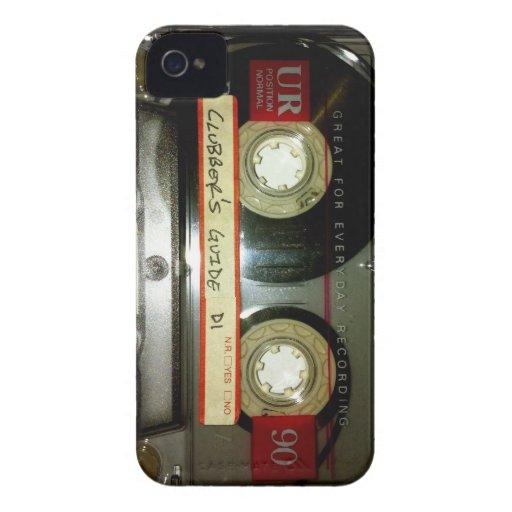 Cinta de casete de la escuela vieja Case-Mate iPhone 4 carcasas
