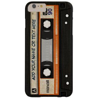 Cinta de casete de música de la escuela vieja 80s funda de iPhone 6 plus barely there