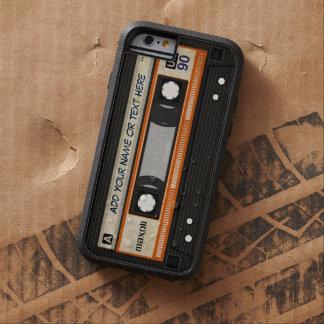Cinta de casete de música de la escuela vieja 80s funda de iPhone 6 tough xtreme