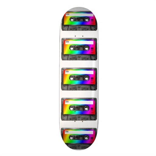 Cinta de casete del arco iris patin