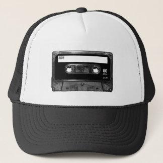 Cinta de casete negra de la etiqueta gorra de camionero