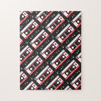 Cinta de casete retra de los años 80 puzzle