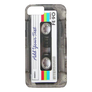 Cinta de casete retra divertida de música del funda para iPhone 8/7