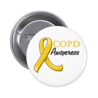 Cinta de la conciencia de COPD (cinta del oro) Pins