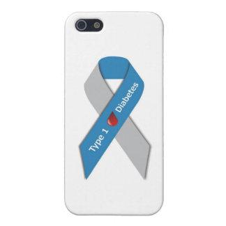 Cinta de la conciencia de la diabetes del tipo 1 iPhone 5 cobertura
