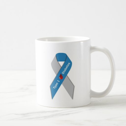 Cinta de la conciencia de la diabetes del tipo 1 tazas de café
