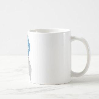 Cinta de la conciencia de la diabetes del tipo 1 taza básica blanca