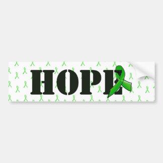 Cinta de la conciencia de la esperanza y de la pegatina para coche