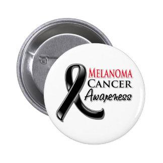 Cinta de la conciencia del cáncer del melanoma pins