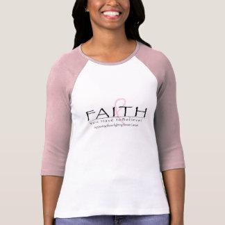 Cinta de la fe del cáncer de pecho camiseta