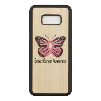Cinta de la mariposa del cáncer de pecho de la funda para samsung galaxy s8+ de carved