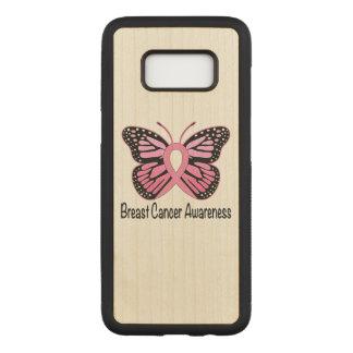 Cinta de la mariposa del cáncer de pecho de la funda para samsung galaxy s8 de carved