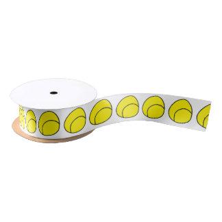 Cinta de la pelota de tenis lazo de raso