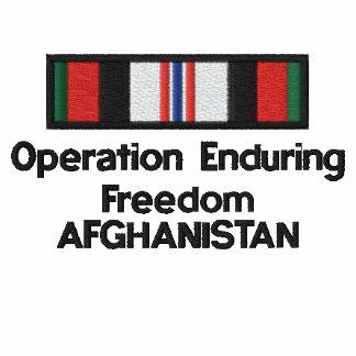 Cinta de OEF Afganistán Sudadera Encapuchada