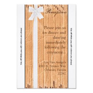 cinta del blanco de la aleta de la cartulina de la invitación 8,9 x 12,7 cm