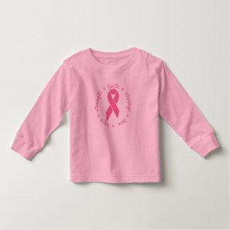 Cinta del cáncer de pecho del amor del valor de la camiseta de bebé