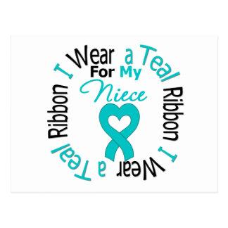 Cinta del cáncer ovárico para mi sobrina postal