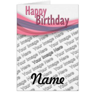 Cinta del cumpleaños tarjeta de felicitación