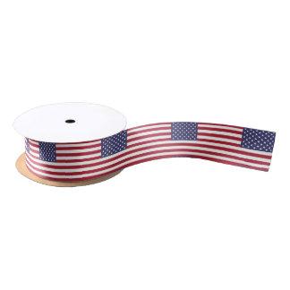 Cinta del modelo de la bandera americana lazo de raso