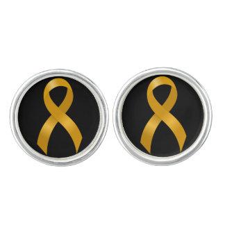 Cinta del oro del cáncer de la niñez gemelos