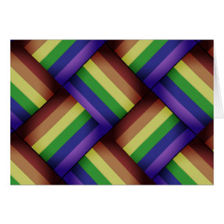 ¡Cinta entretejida del arco iris del orgullo gay Tarjeta De Felicitación