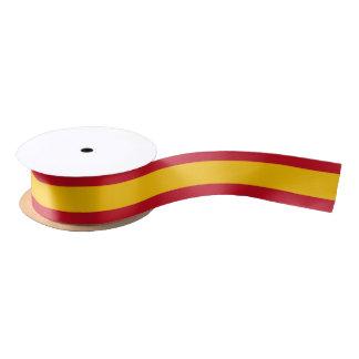 Cinta española de la bandera lazo de raso