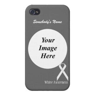 Cinta estándar blanca de Kenneth Yoncich iPhone 4/4S Fundas