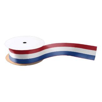 Cinta holandesa de la bandera lazo de raso