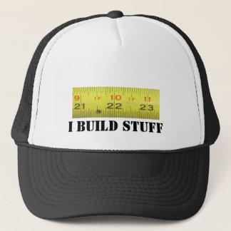 Cinta métrica de metal amarillo gorra de camionero