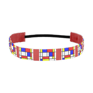 Cinta Para La Cabeza Mondrian - HairBand de los colores primarios