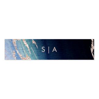 Cinta Para Servilletas Ágata de Ombre de los azules marinos y monograma
