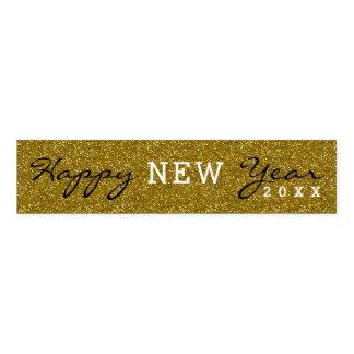 Cinta Para Servilletas Purpurina de moda del oro de la Feliz Año Nuevo