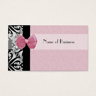 Cinta parisiense elegante del rosa del damasco tarjeta de visita