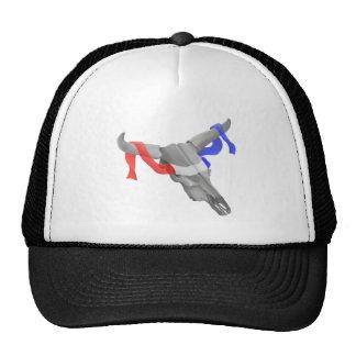 Cinta patriótica del cráneo de la vaca del vintage gorra